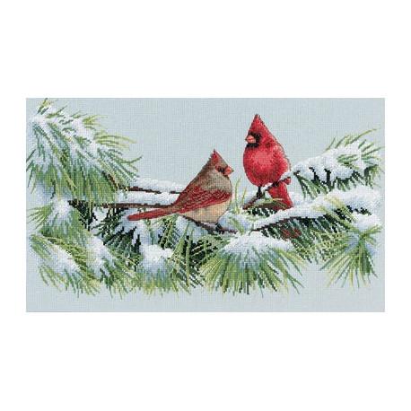 Набор для вышивания Dimensions 35178 Winter Cardinals фото