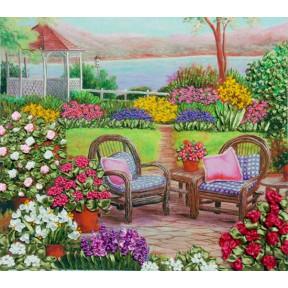 """НЛ-3023 Набор для вышивания лентами Марічка """"Цветущий сад"""""""
