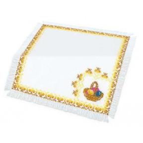 Набор для вышивки крестом Риолис 548 Салфетка с корзинкой