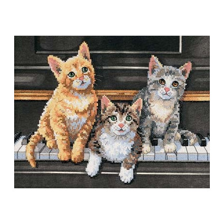 Набор для вышивания Dimensions 13950 Meowsical Trio фото