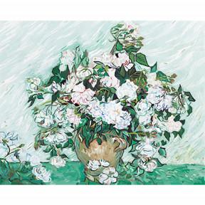 Набор для рисования по номерам Идейка  G281 Ваза с розами.Ван Гог