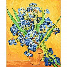 Набор для рисования по номерам Идейка  G282 Ирисы в вазе.Ван Гог