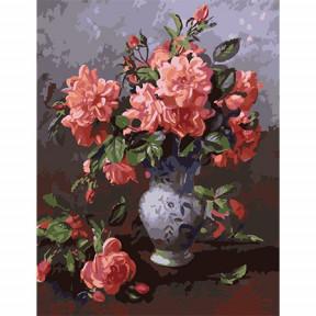 Набор для рисования по номерам Идейка MMC042 Розовый букет