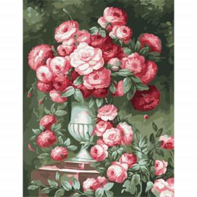 Набор для рисования по номерам Идейка  MMC055 Розы в высокой вазе