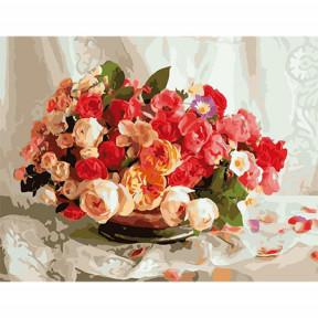 Набор для рисования по номерам Идейка  MMC071 Бутоны роз