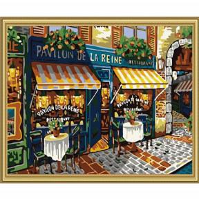 Набор для рисования по номерам Идейка  MG139 Парижская улочка