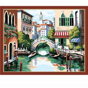 Набор для рисования по номерам Идейка  MG175 Венеция