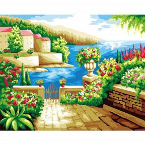 Набор для рисования по номерам Идейка  G258 Солнечная терраса