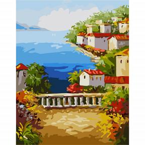 Набор для рисования по номерам Идейка  G300 Лето на средиземноморском побережье