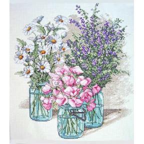 Набор для вышивания  Dimensions 35122 Wildflower Trio