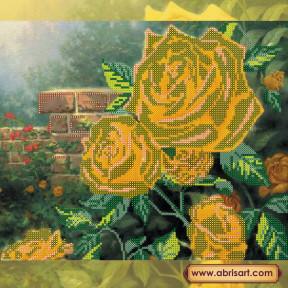 Схема для вышивания бисером Абрис Арт АС-166 Чайные розы