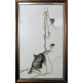 Набор для вышивки крестом Alisena 1033а Кошки-мышки