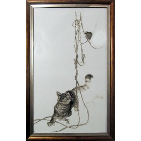 Набор для вышивки крестом Alisena 1033а Кошки-мышки фото