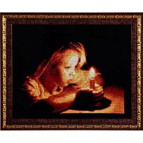 Набор для вышивки крестом Alisena 1036а Девочка со свечей