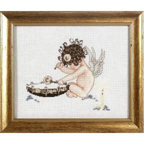 Набор для вышивки крестом Alisena 1038а Ангелочек у барабана