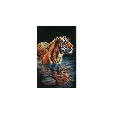 Набор для вышивания Dimensions 35222 Tiger Chilling Out фото