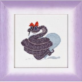 Набор для вышивки крестом Alisena 1057а Змеюшка