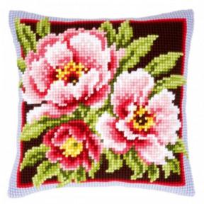 Набор для вышивки подушки Vervaсo PN-0144348 Розовые цветы/Pink