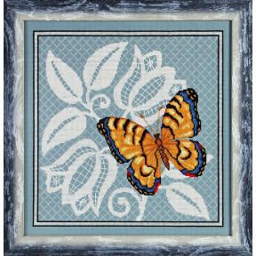 Набор для вышивки крестом Alisena 1124а Желтая бабочка