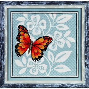 Набор для вышивки крестом Alisena 1125а Красная бабочка