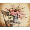 Набор для вышивания Dimensions 35187 Roses on White Chair фото