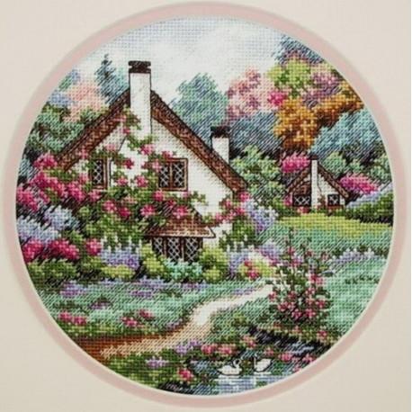Набор для вышивания крестом Classic Design Домик в саду 4373