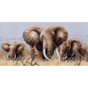 Набор для вышивания крестом Classic Design 4365 Африканские слоны