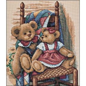 Набор для вышивания крестом Classic Design Мишки на стуле 4366