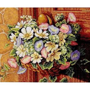 Набор для вышивания крестом Classic Design Цветы в корзине 4371