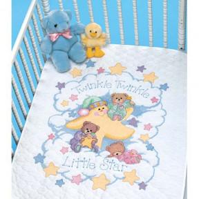 Набор для вышивания  детского одеяла  03171 Twinkle Twinkle Quilt