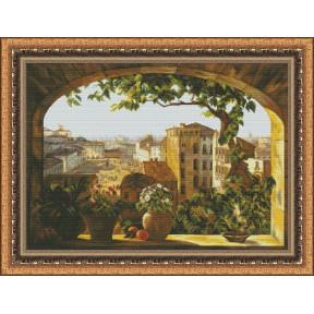Набор для вышивки крестом Юнона 1102 Окно в Рим фото