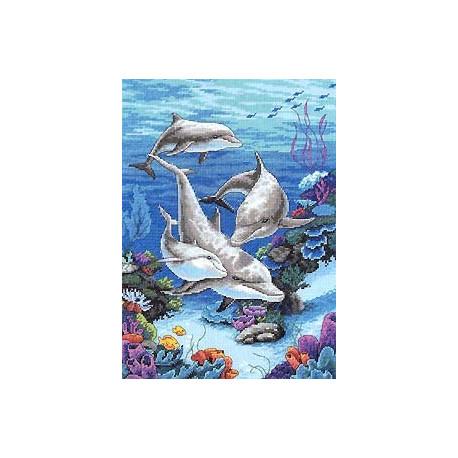 Набор для вышивания Dimensions 03830 The Dolphins Domain фото