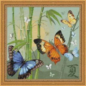 Набор для вышивки крестом Риолис  1336 Бабочки