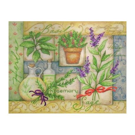 Набор для вышивания Dimensions 70-03241 Herb Collage фото