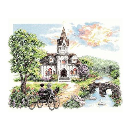 Набор для вышивания Dimensions 03227 Country Church фото