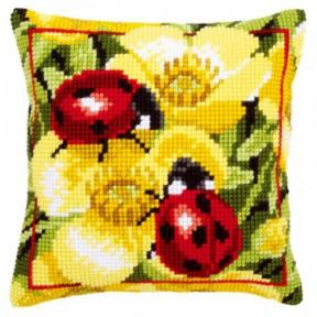 Набор для вышивки подушки Vervaco PN-0145509 Божьи коровки на