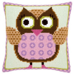 Набор для вышивки подушки Vervaco PN-0147380 Госпожа сова фото