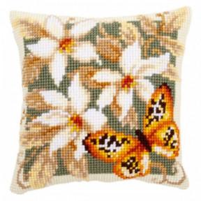 Набор для вышивки подушки Vervaco PN-0148254 Оранжевая бабочка