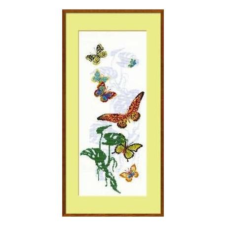 Набор для вышивки крестом Риолис 903 Экзотические бабочки фото