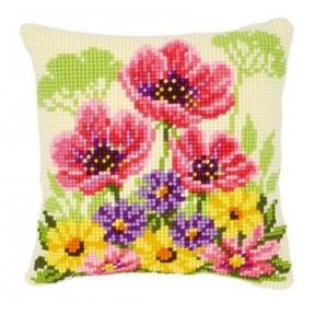 Набор для вышивки подушки Vervaсo PN-0143708 Полевые цветы маки