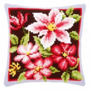 Набор для вышивки подушки Vervaco PN-0148428 Розовый клематис