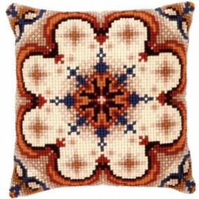Набор для вышивки подушки Vervaco PN-0145507 Rosette with Blue