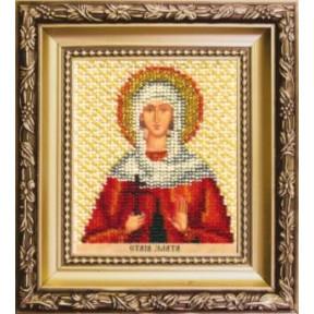 Набор для вышивания бисером Б-1236 Икона святой Златы фото