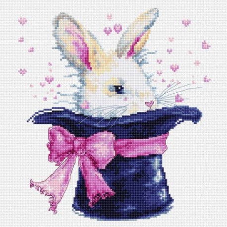 Набор для вышивки крестом Luca-S B2302 Кролик в шляпе, фото