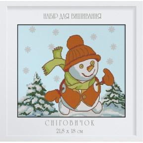 """Набор для вышивки крестом Dantel 038Д """"Снеговик"""""""