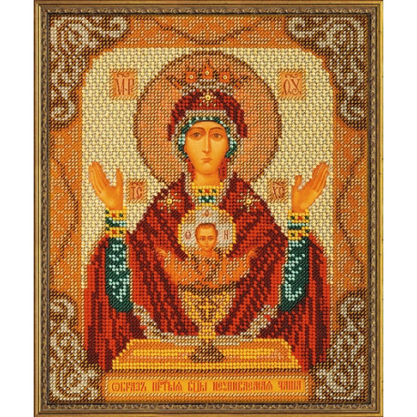 Набор для вышивания бисером Кроше В-165 Богородица Неупиваемая