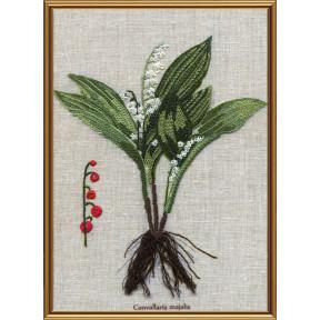 Набор для вышивания нитками Нова Слобода ЕМ-4024 Ботаника. Ландыш майский