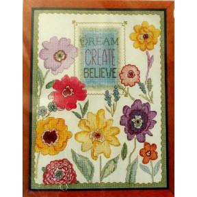 Набор для вышивания  Bucilla 45953 Dream Create Believe