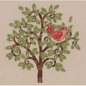 Набор для вышивания  Bucilla 45822 Red Bird on Tree