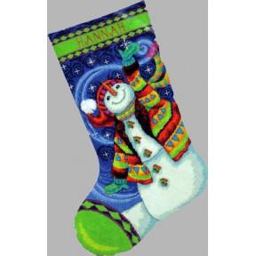 Набор для вышивания Dimensions 71-09143 Happy Snowman фото